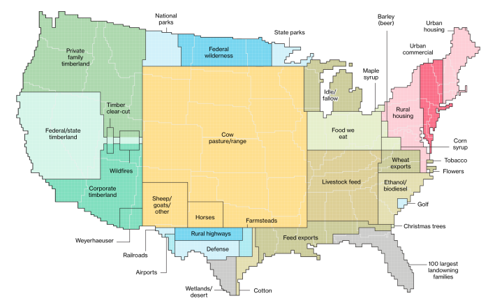US Land Use Bloomberg